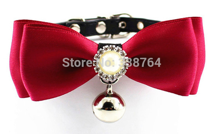 Hot S Pet Supplies Retro Style Dog Tie Wedding Accessories Dogs Bowtie Collar Christmas Grooming Rhinestone Decoration